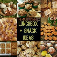 My HUGE and growing list of LUNCHBOX AND SNACK IDEAS for the whole family! I have labeled/colour coded each recipe to indicate if it is Nut Free, Egg Free, Gluten Free, Dairy Free, or Refined Sugar Free (note: my recipes are really easy to substitute ac Banana Oat Muffins, Bran Muffins, Lemon Muffins, Banana Oats, Doughnut Muffins, Oat Slice, Coconut Slice, Healthy Carrot Cakes, Healthy Snacks