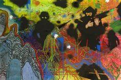 View D.XL 2010 by Daniel Richter on artnet. Browse more artworks Daniel Richter from Regen Projects. Kunst Inspo, Art Inspo, Art And Illustration, Kunst Portfolio, Arte Sci Fi, Wow Art, Weird Art, Psychedelic Art, Aesthetic Art