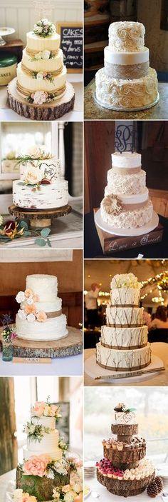 the best rustic wedding cake ideas