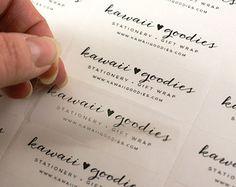 Custom print CLEAR address labels - 2 x 1 transparent custom labels -clear wedding favor labels, return address labels, invitations by kawaiigoodies? Print Address Labels, Address Label Template, Christmas Address Labels, Label Templates, Return Address Labels, Printing Labels, Clear Labels, Invitation Templates, Couple
