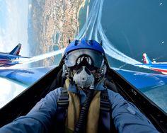 """French Air Force """"Patrouille de France"""" Dassault-Dornier AlphaJet pilot selfie"""