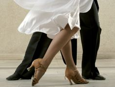Ballroom dance shoes are strange and marvelous things. They are marvelous because they are light, put your balance in the perfect place, stretch and bend with your every move, grip and slide whe…