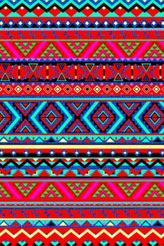 CocoPPa red/pink,black,blue,yellow,purple, green pattern (wallpaper)