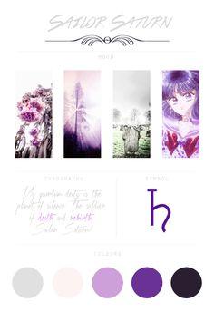"dashberlins: "" Sailor Moon Moodboards - Sailor Saturn """