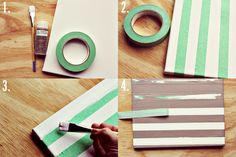 how to make stripes in a canvas