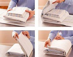 How to fold and store your sheet. - Denise During - Personal Organizer Linen Closet Organization, Home Organisation, Organization Hacks, Konmari, Organiser Son Dressing, Folding Fitted Sheets, Personal Organizer, Linen Storage, Home Hacks