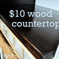 $10 Wood Countertop {tutorial}