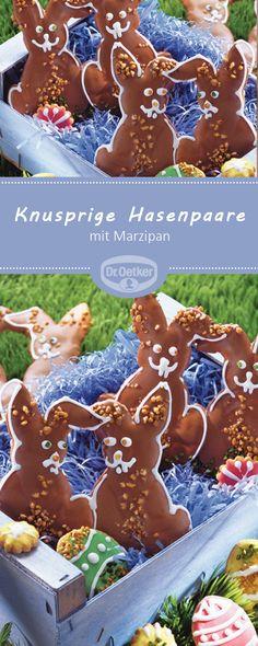 Knusprige Hasenpaare: Leckere Plätzchen mit Marzipan und Schokolade