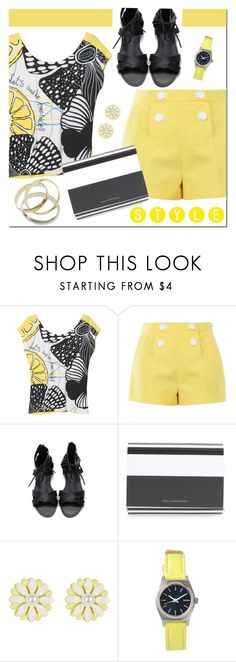 """""""Let's Make Lemonade!"""" by brendariley-1 ❤ liked on Polyvore featuring Desigual, Boutique Moschino, Diane Von Furstenberg, New Look, Nixon and Cartier"""