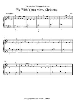 piano we wish you a merry christmas sheet music - 8notes.com