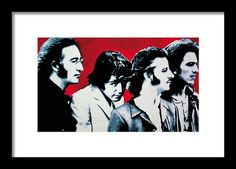 The Beatles Framed Print featuring the painting The Beatles by Luis Ludzska