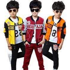 29.30$  Watch now - https://alitems.com/g/1e8d114494b01f4c715516525dc3e8/?i=5&ulp=https%3A%2F%2Fwww.aliexpress.com%2Fitem%2F3-Colors-Boys-Sports-Suit-Autumn-Children-Clothes-Sets-Fashion-Coat-Pants-Vest-For-Kids-O%2F32451218396.html - 3 Colors Boys Sports Suit Autumn Children Clothes Sets Fashion Coat+Pants+Vest For Kids O-Neck Number Clothing Suit For Children