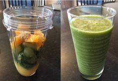 Citrus Green Smoothie - Sore throat?  Low Energy?  Try this smoothie packed with Vitamin C, protein, and flax seed.