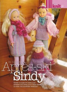 Apres-Ski Sindy by Alan Dart Dolls Clothes Knitting Pattern Simply Knitting Magazine Pull Out Pattern: Amazon.co.uk: Alan Dart: Books