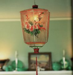 lantern--find that old embroidered shirt and wrap a frame