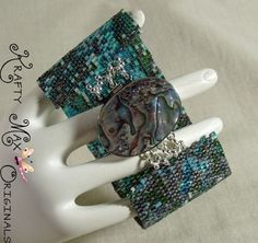 The Beauty of Abalone for you to Wear - Beadwoven Bracelet | KraftyMax - Jewelry on ArtFire