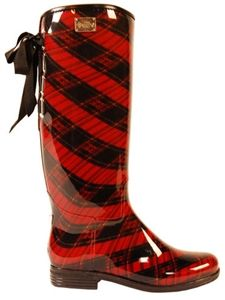 DAV Rainboots | Eve Red Plaid Boots