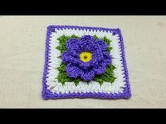 Crochet Flower Granny Square #TUTORIAL DIY Crochet - http://www.knittingstory.eu/crochet-flower-granny-square-tutorial-diy-crochet/