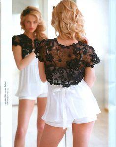 Wedding/coctail Knitting CROCHET PATTERNS Book Irish lace dress collar  top skirt cardigan Fashion Magazine 555.  via Etsy.