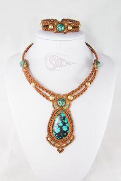 "Jewellery set ""Antique"" : necklace and bracelet by svitoe on Etsy"