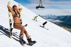 Top summer ski resorts in Europe North America #skiseason