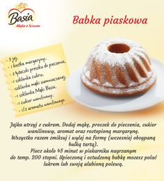 Polish Desserts, Polish Recipes, Cooking Tips, Cooking Recipes, Sweet Cakes, Easy Meals, Food And Drink, Sweets, Menu Planning