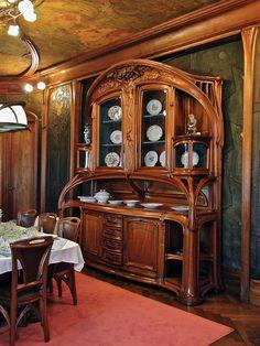 Art Nouveau como uma expressão no design de interiores - jugendstil - Arte Móveis Art Nouveau, Design Art Nouveau, Art Nouveau Interior, Art Furniture, Art Nouveau Furniture, Unique Furniture, Furniture Dolly, Furniture Stores, Architecture Art Nouveau