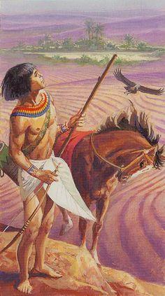 Le cavalier de bâtons - Ramsès : Tarot de l'éternité par Severino Baraldi