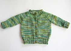 This great top down knitted raglan baby sweater has a lovely classic elegance to it. Several different sizes are available. Get FREE pattern NOW ...
