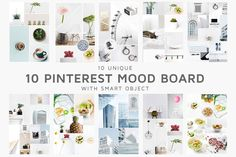 10 Mood Board Templates by CreativeWhoa on Social Media Template, Social Media Design, Professional Presentation, Creative Sketches, Business Card Logo, Pinterest Marketing, Instagram Feed, Free Design, Banner