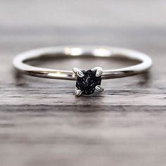 NEW ♥️ Raw Black Diamond Ring || Ethically sourced diamonds and available now at www.indieandharper.com
