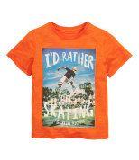 Check this out! T-shirt i flamméjersey af bomuld med tryk foran. – Gå ind på hm.com for at se mere.