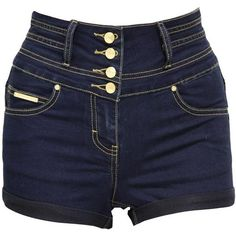 Jane Norman High Waisted Denim Shorts ($15) ❤ liked on Polyvore featuring shorts, bottoms, pants, short, purple, sexy high waisted shorts, sexy shorts, jean shorts, denim short shorts and denim shorts