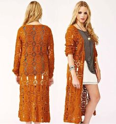 Perfect crochet pattern for making a coat. Comes with detailed do-it-yourself PDF instructions and charts.