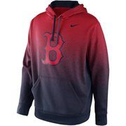 Nike Boston Red Sox Mezzo Fade Performance Hoodie - Red/Navy Blue