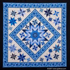 2017 Sydney Quilt Show- Dorrigo Blues by Colleen Harradine