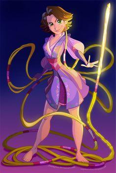 Disney's  Rapunzel as Jedi Knight