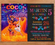 Coco Invitation Coco Birthday Invitation Coco Party Disney