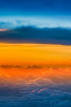 Sunset above the clouds ~ By Dave
