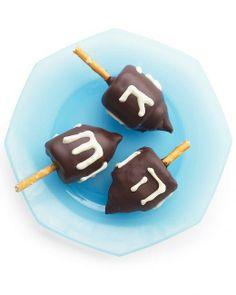 Edible Chocolate Marshmallow Dreidels Recipe