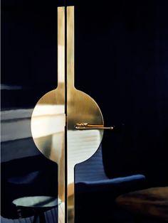 scandinaviancollectors:  Brass door handle detail by Jean Louis Deniot. http://www.deniot.com/