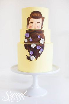 Floral Beard Cake by Alisha Henderson @ Sweet Bakes  www.facebook.com/sweetbakess
