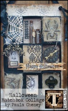 Halloween Matchbox Collage by Paula Cheney | www.timholtz.com