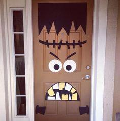 cute halloween door decoration my door had a scary face last year this year well make it goofy all hallows eve pinterest halloween door - Cute Halloween Door Decorations