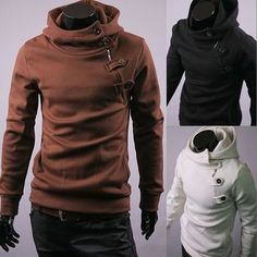Men's Slim Fit Casual Blazers Hoodies Sweater Jacket Coats