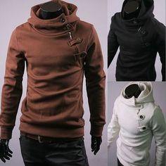 Men's Slim Fit Casual Blazers Hoodies Sweater Jacket Coats