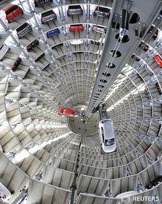 *pushes buttons* B4......... I said B4 *pushes them again*...... UGH *hits vending machine*.................... *CRASH!!! Car alarms* ............. Oops.