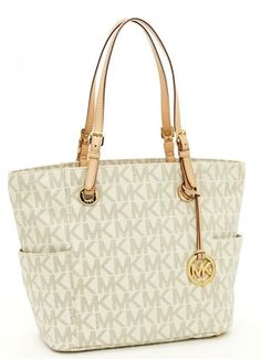 Michael Kors bags and Michael Kors handbags Michael Kors Jet Set Ew Signature Monogram Tote Beige/White 133 Michael Kors Jet Set, Michael Kors Style, Michael Kors Fashion, Michael Kors Outlet, Michael Kors Selma, Handbags Michael Kors, Michael Khors, Popular Handbags, New Handbags