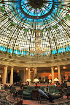 Madrid. Hotel Palace. Cúpula de la Rotonda. by josemazcona, via Flickr