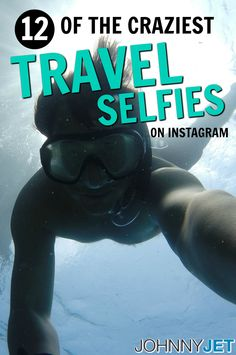 I started taking selfies long before selfies were even a thing. But the craziest travel selfie I've ever taken was probably when I swam with sharks in Bora Bora and that wasn't even that dangerous – especially when you compare it to these daredevils below. Here are 12 of the craziest travel selfies I've seen on Instagram: